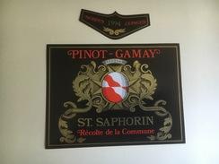1287 - Suisse  Vaud   St-Saphorin Pinot-Gamay 1994 Récolte De La Commune - Etiquettes