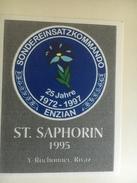 1289 - Suisse  Vaud   St-Saphorin  1995 SondereinsatzKommando Enzian / Unité Spéciale Gentiane /Swat - Etiketten