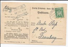 EMPIRE ALLEMAND - TIMBRE SUR CARTE AVEC CAD SCHWANDORF DU 14/10/1924 - Germania
