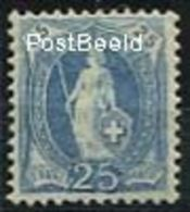 Switzerland 1899 25c, Greyultramarin, Perf. 11.75:12.25, (Unused (hinged)) - 1882-1906 Wappen, Stehende Helvetia & UPU