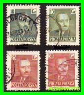POLONIA - POCZTA-POLSKA  ( EUROPA ) 4 SELLOS  AÑO 1948-50   PERSONAJES - 1919-1939 Republic