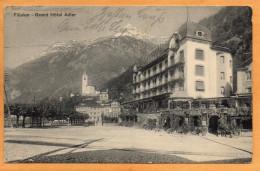 Fluelen Grand Hotel Adler 1914 Postcard - UR Uri