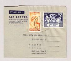GB Tanzania Kigonsera 22.12.1954 Luftpost Brief Nach Aarau - Kenya, Uganda & Tanganyika