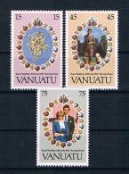 Vanuatu 1981 Royal Wedding - Charles Und Diana Mi.Nr. 606/08 Kpl. Satz ** - Vanuatu (1980-...)