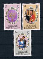Brunei 1981 Royal Wedding - Charles Und Diana Mi.Nr. 252/54 Kpl. Satz ** - Brunei (1984-...)