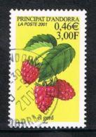 Andorra (French POs) SG F585 2001 Fruit And Birds 3f Good/fine Used - Andorra Francesa