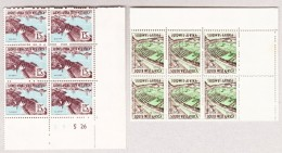 South West Afrika 1963 SG#182 15c Und SG#192 3c Beide 6er Block Perforation Schwacher Druck (Blindzähn) - Südafrika (...-1961)