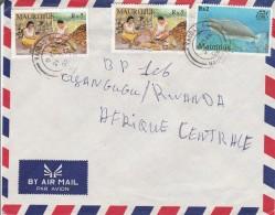 Z3] Enveloppe Cover Maurice Mauritius Poisson Fish Noix De Coco Coconut - Mauritius (1968-...)