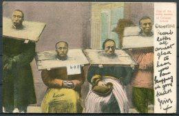 1908 Hong Kong China Chinese Prisoner Torture Postcard Victoria - 285 Kings Road, Chelsea, London - Hong Kong (...-1997)