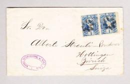Guatemala 2 X 1cent. Brief Nach Hottingen Zürich AK-Stempel 20.8.1887 Neumünster - Guatemala