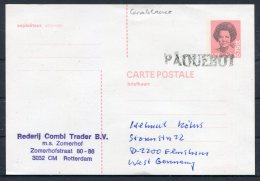 1989 Netherlands Casablanca Paquebot  M.S. ZOMERHOF Ship Postcard - Period 1980-... (Beatrix)