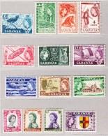 Sarawak 1957 SG#188-202 ** 14 Werte (ohne 19B 1955) - Sarawak (...-1963)