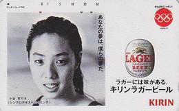Télécarte Japon / 110-90524  BIERE KIRIN & Fille JO Natation Synchro - BEER Sport Girl Olympic Games Japan Phonecard 743 - Jeux Olympiques