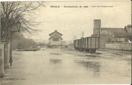 Meaux Inondations De 1920 Gare De Meaux Local - Meaux