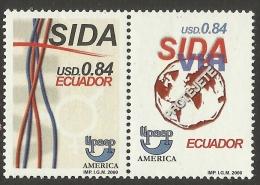 ECUADOR 2000 UPAEP AIDS AWARENESS CAMPAIGN SET MNH - Ecuador
