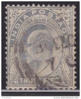 India 1902-1909, King Edward VII, 3p, Used - India (...-1947)