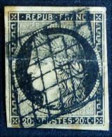 CERES 1849/50 - OBLITERE GRILLE - YT 3 - MI 3x - 1849-1850 Ceres