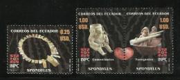 ECUADOR 2006  SPONDYLUS SHELL CARVINGS SET MNH - Equateur
