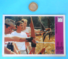 ARCHERY - Yugoslav Vintage Trading Card ** VERY LARGE SIZE ** Tir à L´arc Bogenschießen Tiro Con L´arco Tiro Al Arco - Archery