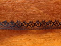 12 Metre De Dentelle Noire  Hauteur 6mm - Laces & Cloth