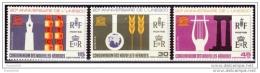 New Hebrides, 1966, UNESCO 20th Anniv. (F) Scott# 136-138, MNH - Französische Legende