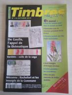 TIMBRES MAGAZINE 2008 - Juin N° 91 (Chine, Marianne à La Nef, Les Flammes, ...) - Magazines
