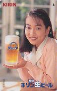 RARE Télécarte Japon / 110-011 - BIERE KIRIN & Femme - BEER & Girl Japan Phonecard - BIER & FRAU - CERVEZA - 756 - Alimentación