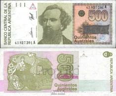 Argentinien Pick-Nr: 328b Bankfrisch 1986 500 Australes - Argentine