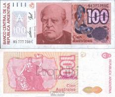 Argentinien Pick-Nr: 327c Bankfrisch 1985 100 Australes - Argentine