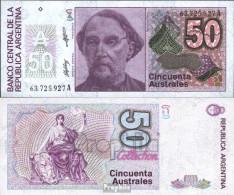 Argentinien Pick-Nr: 326b Bankfrisch 1986 50 Australes - Argentinien