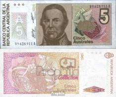 Argentinien Pick-Nr: 324b Bankfrisch 1985 5 Australes - Argentinien