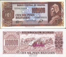 Bolivien Pick-Nr: 171a Bankfrisch 1984 100.000 Pesos Boliv. - Bolivia