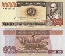 Bolivien Pick-Nr: 168a Bankfrisch 1984 5.000 Pesos Boliv. - Bolivien