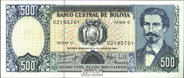 Bolivien Pick-Nr: 166a Bankfrisch 1981 500 Pesos Boliv. - Bolivien