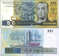 Brasilien Pick-Nr: 211b Bankfrisch 1987 100 Cruzados - Brasilien