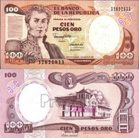 Kolumbien Pick-Nr: 426A Bankfrisch 1991 100 Pesos Oro - Kolumbien