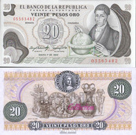 Kolumbien Pick-Nr: 409d (1983) Bankfrisch 1983 20 Pesos Oro - Kolumbien