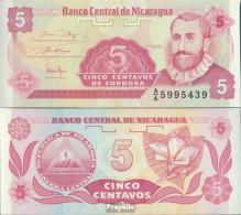 Nicaragua Pick-Nr: 168a Bankfrisch 1991 5 Centavos - Nicaragua