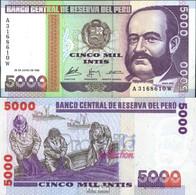 Peru Pick-Nr: 137 Bankfrisch 1988 5.000 Intis - Peru