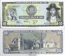 Peru Pick-Nr: 113 Bankfrisch 1977 50 Soles Oro - Peru