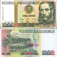 Peru Pick-Nr: 136b (1988) Bankfrisch 1988 1.000 Intis - Pérou