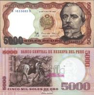 Peru Pick-Nr: 117c Bankfrisch 1985 5.000 Soles Oro - Peru