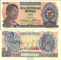 Indonesien Pick-Nr: 103a Bankfrisch 1968 2 1/2 Ruphia - Indonesien