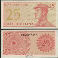 Indonesien Pick-Nr: 93a Bankfrisch 1964 25 Sen - Indonesien