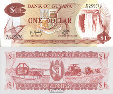 Guyana Pick-Nr: 21g, Signatur 9 Bankfrisch 1992 1 Dollar - French Guiana