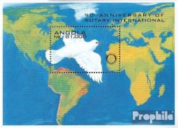Angola Block20 (kompl.Ausg.) Postfrisch 1995 90 Jahre Rotary International - Angola