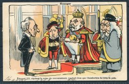 Etranger King Edward 7 Chamberlain Comic Satire Postcard - Satirical