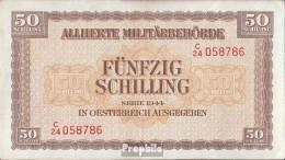 Österreich Kat-Nr.: 246 (109) Allierte Militärbehörde Gebraucht (III) 1944 50 Schilling - Oesterreich