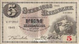 Schweden Pick-Nr: 33ab (1945) Gebraucht (III) 1945 5 Kronor - Schweden