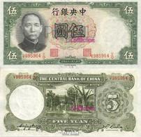 China Pick-Nr: 213a Bankfrisch 1936 5 Yuan - China
